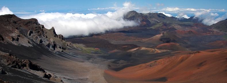Caldera du volcan Haleakala
