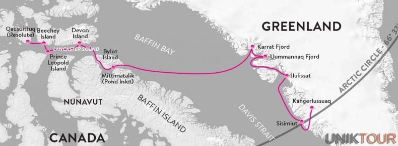 Carte - Passage Nord-Ouest 2017