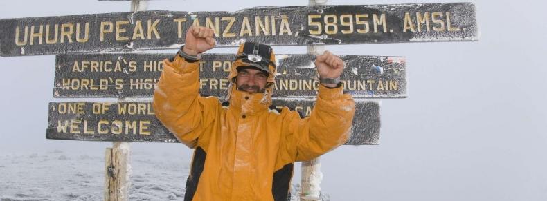 Sommet du Kilimandjaro, 5896 m