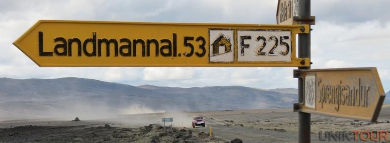 Panneau Landmannalaugar