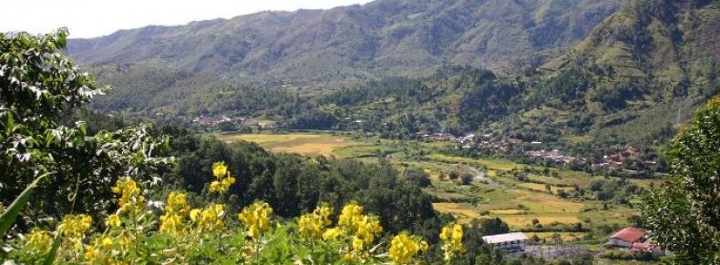 Paysages de montagnes entre Andasibe et Tananarive