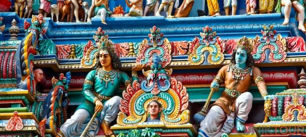 Gopuram d'un temple Hindou, Chennai