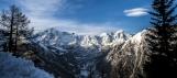 Massif du Mont Blanc depuis Courmayeur