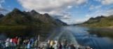 Les îles Lofoten depuis l'Express Côtier