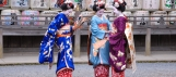 Japan - Maiko by a Temple